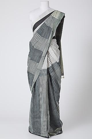 Black Printed Saree by Silk Waves