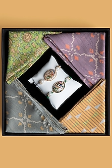 Pocket Squares & Rakhi Hamper Combo by SONNET-BEST SELLERS