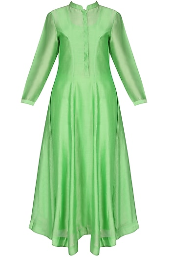 Neon Green Long Kurta by Sloh Designs