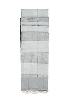 Ivory & Black Hand Block Printed Dupatta by Silkwaves