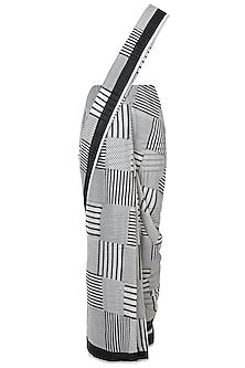 Ivory Hand Block Printed Saree by Silkwaves