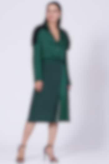 Forest Green Cotton Textured Shirt by Somya Goyal