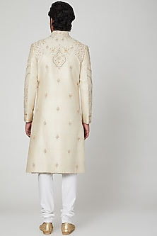 Mud Ivory Sherwani Set by Soniya G