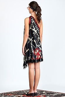 Black Printed & Embroidered Dress by Shivan & Narresh