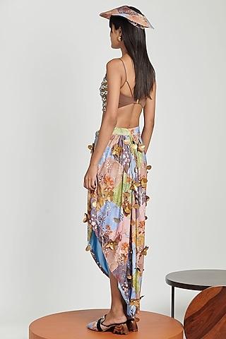 Multi Colored Printed Skirt by Shivan & Narresh