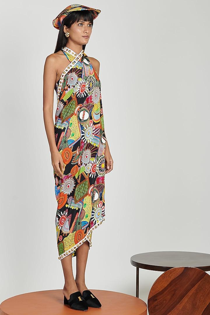 Multi Colored Beach Dress by Shivan & Narresh