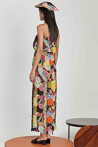 Multi Colored Printed Jumpsuit by Shivan & Narresh