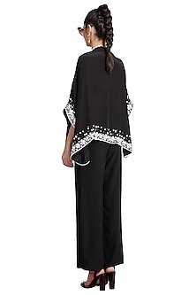 Black Skein Cape by Shivan & Narresh