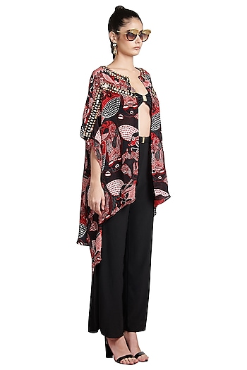 Multi Colored Printed Skein Shirt by Shivan & Narresh