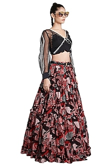 Multi Colored Frill Skirt by Shivan & Narresh