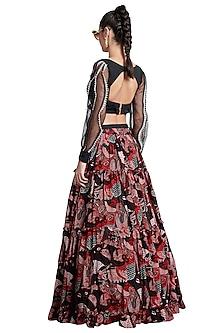Multi Colored Frill Skirt by Shivan & Narresh