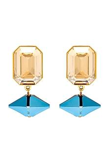 Gold Finish Handcrafted Pico Earrings by Shivan & Narresh X Swarovski