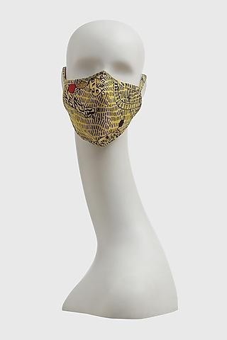 Multi Colored Printed Sunderban Mask by Shivan & Narresh