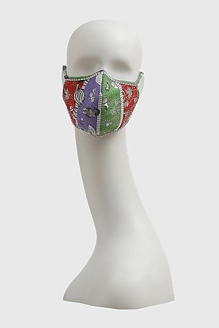 Multi Colored Deccan Printed Mask by Shivan & Narresh