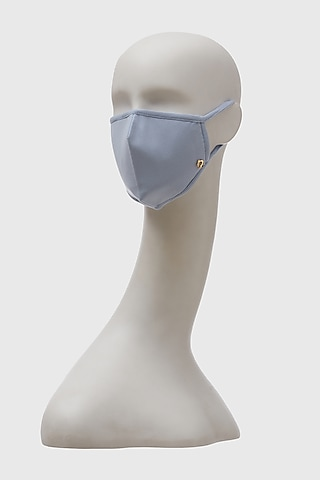 Blue Breathable 3 Ply Mask by Shivan & Narresh