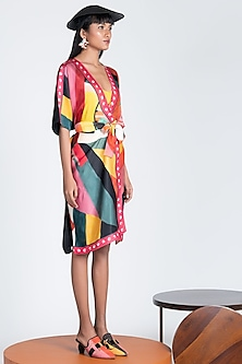 Multi Colored Robe Dress by Shivan & Narresh