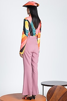 Pink Trousers With Flared Hem by Shivan & Narresh