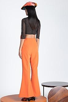 Tangerine Trousers With Flared Hem by Shivan & Narresh