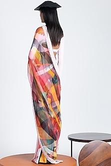 Multi Colored Silk Organza Saree by Shivan & Narresh