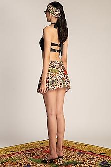 Multi Colored Printed Swim Skirt by Shivan & Narresh