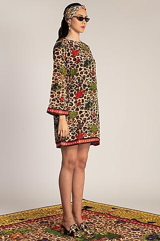 Multi Colored Printed Shift Dress by Shivan & Narresh