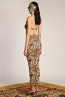 Multi Colored Printed Tapered Trousers by Shivan & Narresh