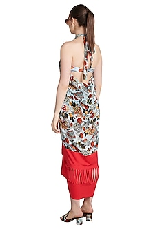 Multi Colored Printed Louvered Paneyo Cover Up by Shivan & Narresh