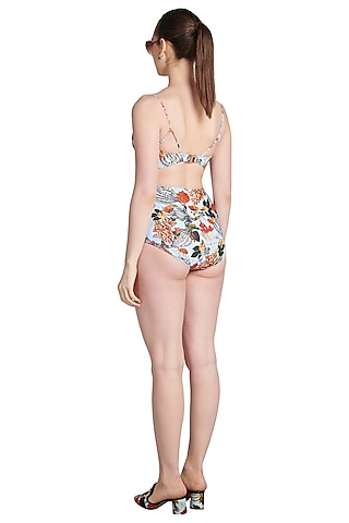 Multi Colored Printed Bikini Set by Shivan & Narresh