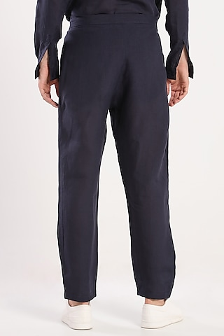 Black Linen Trousers by Son Of A Noble SNOB