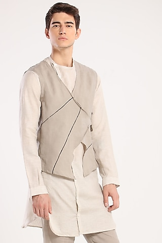 Grey Linen Waistcoat by Son Of A Noble SNOB
