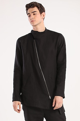 Black Shacket With Zip by Son Of A Noble SNOB