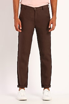 Brown Linen Trousers by Son Of A Noble SNOB