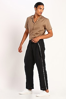 Black Pants With Tie-Up by Son Of A Noble SNOB