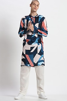 Multi Colored Printed Kurta Set by Son Of A Noble SNOB