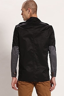 Black & Grey Colorblocked Jacket by Son Of A Noble SNOB