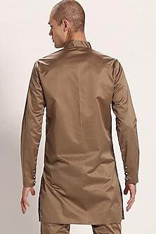 Khaki Cotton Long Jacket by Son Of A Noble SNOB