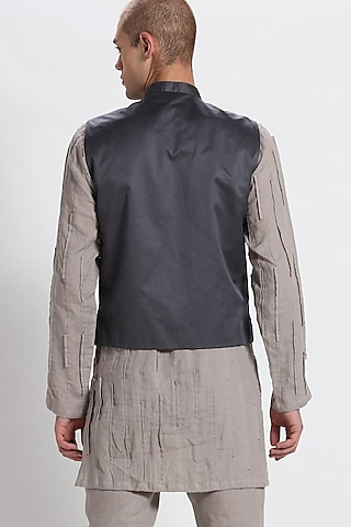Grey Straight-Cut Waistcoat by Son Of A Noble SNOB