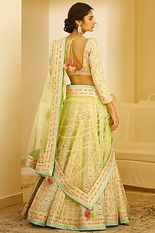Multi Colored Embroidered Lehenga Set by Shyam Narayan Prasad
