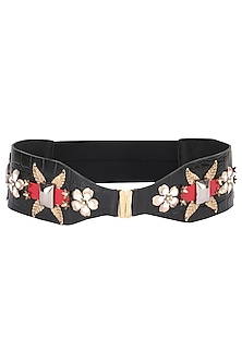 Black Chester Run Belt by SHIVAN & NARRESH