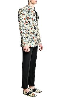 Multi Colored Fused Jersey Jacket by Shivan & Narresh Men