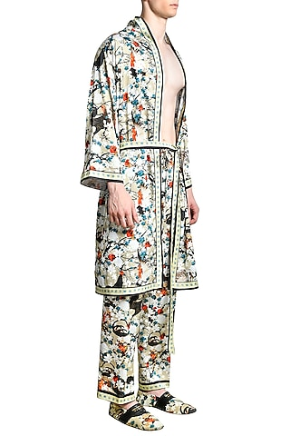 Multi Colored Iconoband Robe by Shivan & Narresh Men