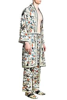 Multi Colored Printed Pyjama Pants by Shivan & Narresh Men