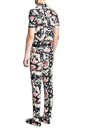 Multi Colored Textured Trouser Pants by Shivan & Narresh Men