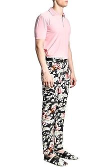 Pink Polo T-Shirt by Shivan & Narresh Men