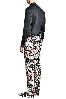 Black Iconopins Cotton Shirt by Shivan & Narresh Men