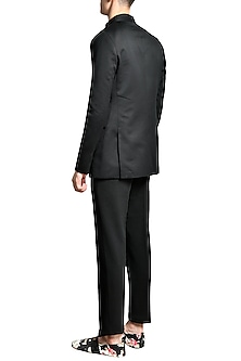 Black Velvet Jacket by Shivan & Narresh Men