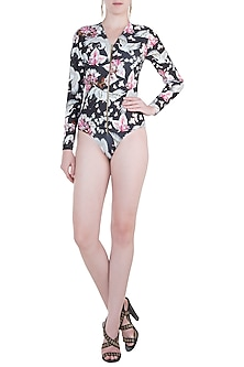 Multicolour eden noir full sleeves trikini by Shivan & Narresh