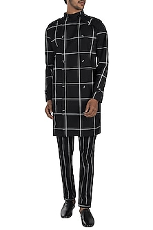 Black printed trench jacket by Son Of A Noble SNOB