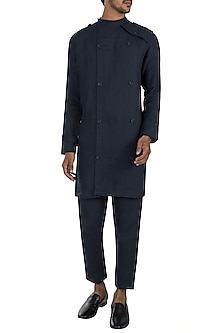 Navy blue trench shacket by Son Of A Noble SNOB