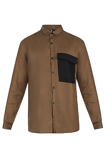 Brown and black shirt by Son Of A Noble SNOB